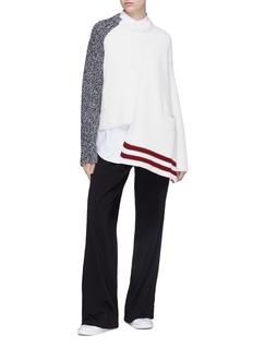 MRZ Staggered hem patchwork sweater