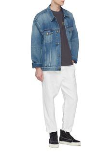 Alexander Wang  'Platinum' slogan appliqué long sleeve T-shirt