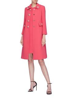 Dolce & Gabbana Rose wool crepe coat
