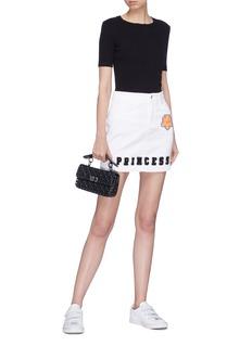 Dolce & Gabbana 'Princess' chenille patch denim skirt