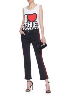 Dolce & Gabbana 'I Love The Love' slogan print oversized tank top
