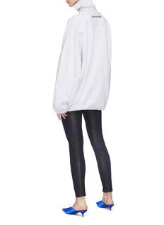 BALENCIAGA 品牌名称刺绣高领oversize卫衣