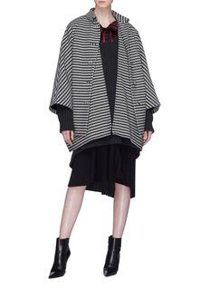 Balenciaga Layered placket houndstooth coat