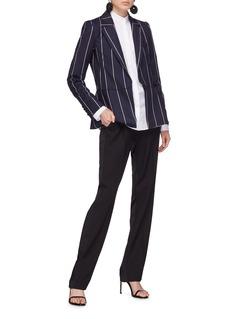 Oscar de la Renta Pinstripe virgin wool-blend blazer
