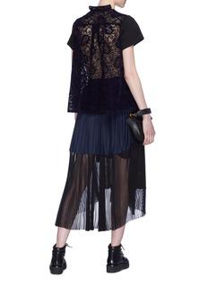 Sacai Patchwork lace back T-shirt
