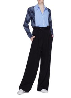 Stella McCartney Stripe panel check plaid shirt