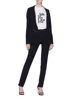Stella McCartney Belted notched lapel blazer