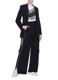 Stella McCartney Stripe peaked lapel wool blazer