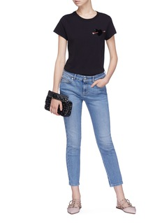 Valentino 'Love Story' embellished heart patch T-shirt
