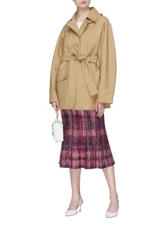 Victoria Beckham 'Saharienne' asymmetric double collar belted jacket