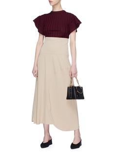 Victoria Beckham Asymmetric curve hem midi skirt
