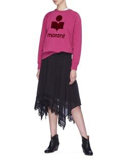 Isabel Marant Étoile 'Milly' logo velvet flock print sweatshirt