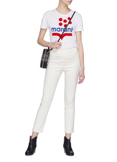 ISABEL MARANT ÉTOILE Koldia波点品牌标志亚麻T恤
