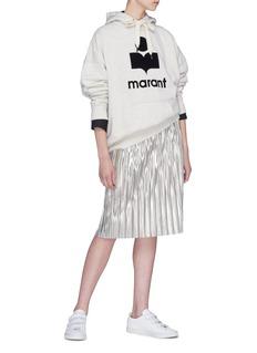 Isabel Marant Étoile 'Mansel' logo velvet flock print hoodie