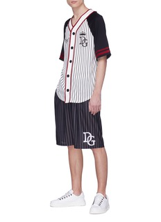 Dolce & Gabbana Slogan appliqué colourblock baseball T-shirt