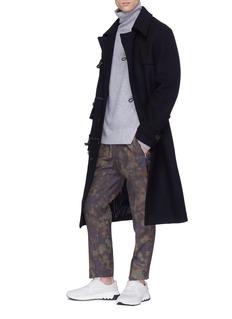 Stella McCartney Camouflage print check plaid wool jogging pants