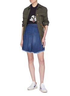 Sandrine Rose 'The Mae' pleated wrap denim skirt