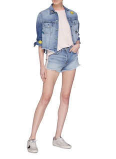 Sandrine Rose 'The Doll' tuxedo stripe denim shorts