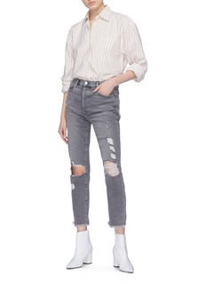 Frame Denim 'Le Original' frayed cuff ripped jeans