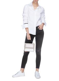Frame Denim 'Le Skinny de Jeanne Crop' ripped jeans