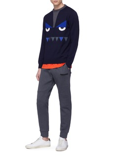 Fendi Sport 'Bag Bugs' intarsia wool sweater
