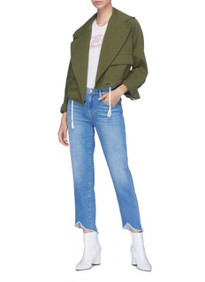 Frame Denim 'Le Nouveau Straight' sweetheart cuff jeans