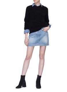 Frame Denim 'Le Mini' star print stud denim skirt