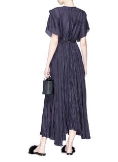 RHIÉ 'Koko' keyhole front belted crinkled crepe dress