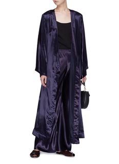 The Row 'Impu' satin wrap coat