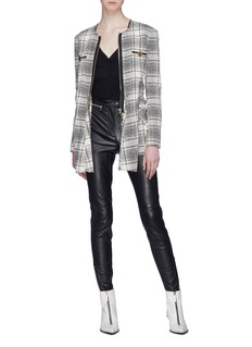 ALEXANDER WANG  系带衣袖格纹粗花呢夹克