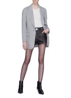 ALEXANDER WANG  铆钉按扣车缝线高腰棉质短裤