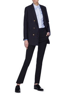 Thom Browne Double-breasted wool-mohair sack blazer