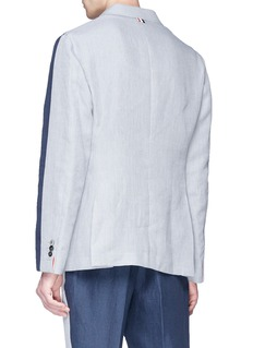 Thom Browne Colourblock linen soft blazer