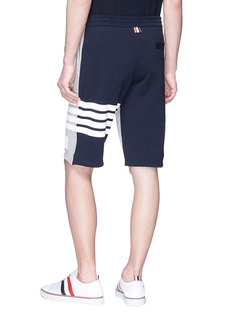 Thom Browne Stripe colourblock sweat shorts