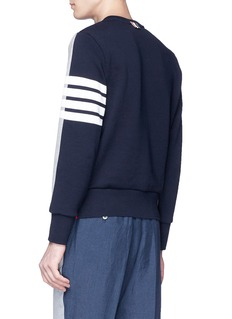 Thom Browne Stripe sleeve colourblock sweatshirt