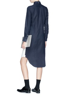 Thom Browne Colourblock linen shirt dress