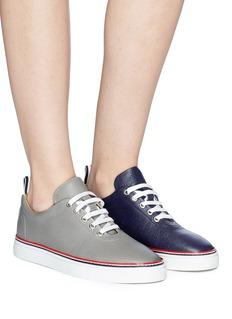 Thom Browne Asymmetric pebble grain leather sneakers