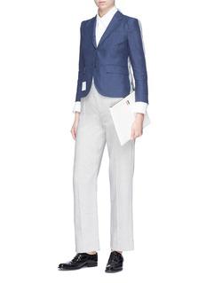 Thom Browne Colourblock cropped linen blazer