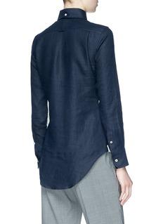 THOM BROWNE 拼色设计亚麻衬衫