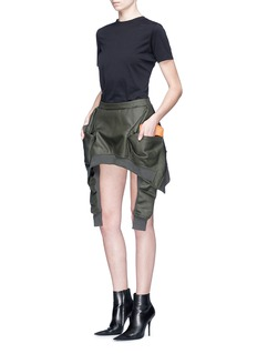 Helmut Lang Mock bomber jacket wrap skirt