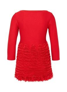 Alaïa Ruffle rib knit sweater
