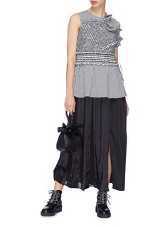 3.1 Phillip Lim Ruffle smocked gingham check top