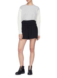 3.1 Phillip Lim Ruffle plissé pleated crepe shorts