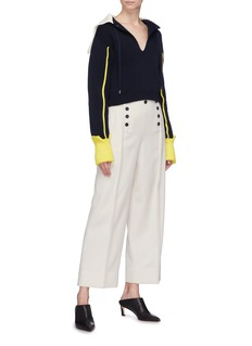 3.1 Phillip Lim Sailor collar keyhole front sweater