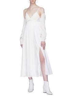 3.1 Phillip Lim Split hem pleated camisole dress