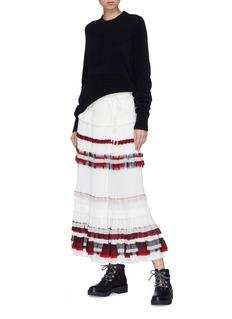 3.1 Phillip Lim Ruffle plissé pleated tiered crepe skirt