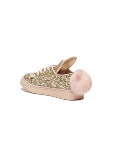 Minna Parikka 'Tail Sneaks Mini' bunny pompom glitter kids sneakers