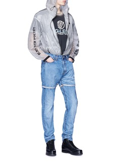 D.TT.K Detachable cuff straight leg jeans