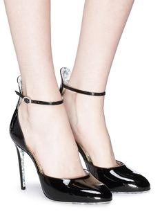 Gucci Ankle strap patent leather pumps