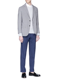 Tomorrowland Check Ermenegildo Zegna wool-silk suiting pants